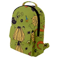 Funny Scary Spooky Halloween Party Design Flap Pocket Backpack (small)