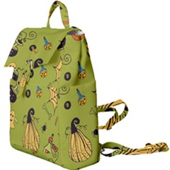 Funny Scary Spooky Halloween Party Design Buckle Everyday Backpack