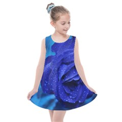 Beauty Bloom Blue 67636 Kids  Summer Dress by hhhh
