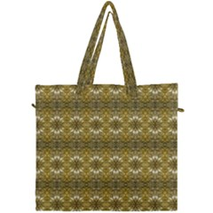 Golden Ornate Pattern Canvas Travel Bag by dflcprintsclothing