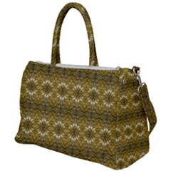 Golden Ornate Pattern Duffel Travel Bag by dflcprintsclothing