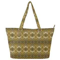 Golden Ornate Pattern Full Print Shoulder Bag by dflcprintsclothing