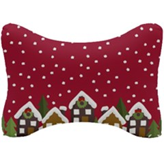 Winter Idyll Seat Head Rest Cushion by Valentinaart