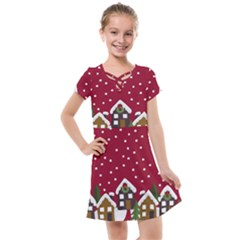 Winter Idyll Kids  Cross Web Dress by Valentinaart