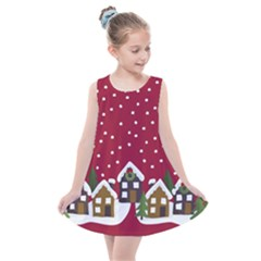 Winter Idyll Kids  Summer Dress by Valentinaart
