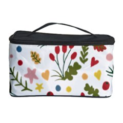 Floral Christmas Pattern  Cosmetic Storage by Valentinaart
