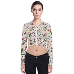 Floral Christmas Pattern  Zip Up Bomber Jacket by Valentinaart