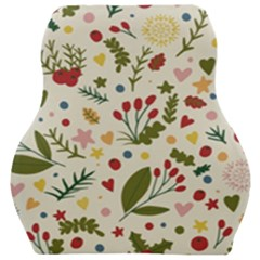 Floral Christmas Pattern  Car Seat Velour Cushion  by Valentinaart