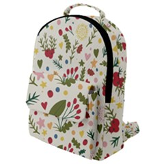 Floral Christmas Pattern  Flap Pocket Backpack (small) by Valentinaart