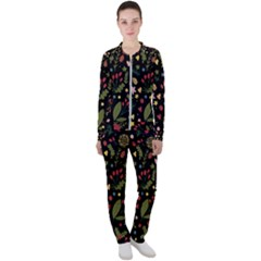Floral Christmas Pattern  Casual Jacket And Pants Set by Valentinaart
