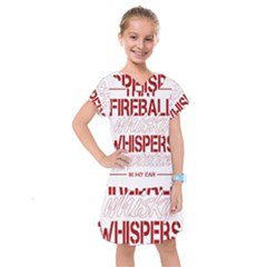 Fireball Whiskey Shirt Solid Letters 2016 Kids  Drop Waist Dress