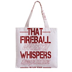 Fireball Whiskey Shirt Solid Letters 2016 Zipper Grocery Tote Bag by crcustomgifts