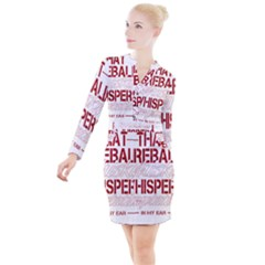 Fireball Whiskey Shirt Solid Letters 2016 Button Long Sleeve Dress