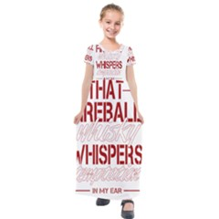 Fireball Whiskey Shirt Solid Letters 2016 Kids  Short Sleeve Maxi Dress
