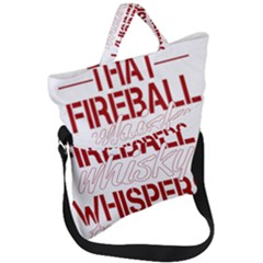 Fireball Whiskey Shirt Solid Letters 2016 Fold Over Handle Tote Bag by crcustomgifts