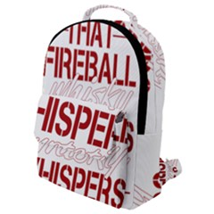 Fireball Whiskey Shirt Solid Letters 2016 Flap Pocket Backpack (small)