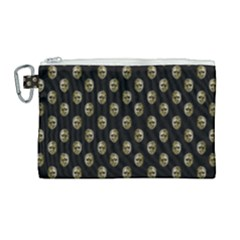 Venetian Mask Motif Pattern 1 Canvas Cosmetic Bag (large)