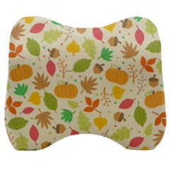 Thanksgiving Pattern Velour Head Support Cushion by Valentinaart