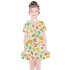 Thanksgiving Pattern Kids  Simple Cotton Dress by Valentinaart