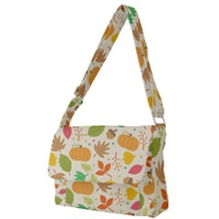Thanksgiving Pattern Full Print Messenger Bag by Valentinaart