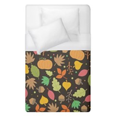 Thanksgiving Pattern Duvet Cover (single Size) by Valentinaart