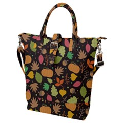 Thanksgiving Pattern Buckle Top Tote Bag by Valentinaart