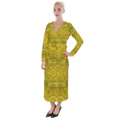 Sunshine Feathers And Fauna Ornate Velvet Maxi Wrap Dress by pepitasart