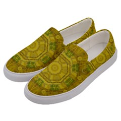 Sunshine Feathers And Fauna Ornate Men s Canvas Slip Ons by pepitasart