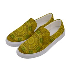 Sunshine Feathers And Fauna Ornate Women s Canvas Slip Ons by pepitasart