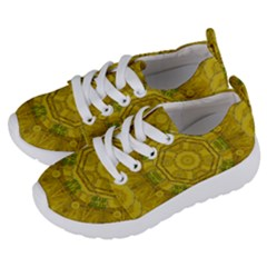 Sunshine Feathers And Fauna Ornate Kids  Lightweight Sports Shoes by pepitasart