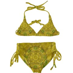 Sunshine Feathers And Fauna Ornate Kids  Classic Bikini Set by pepitasart
