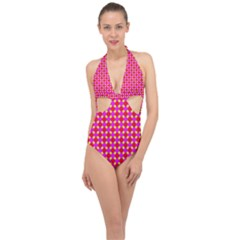New Stuff 3 Halter Front Plunge Swimsuit