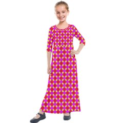 New Stuff 3 Kids  Quarter Sleeve Maxi Dress
