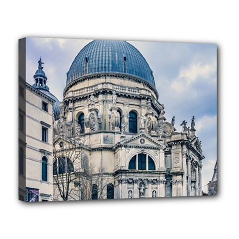 Santa Maria Della Salute Church, Venice, Italy Canvas 14  X 11  (stretched) by dflcprintsclothing
