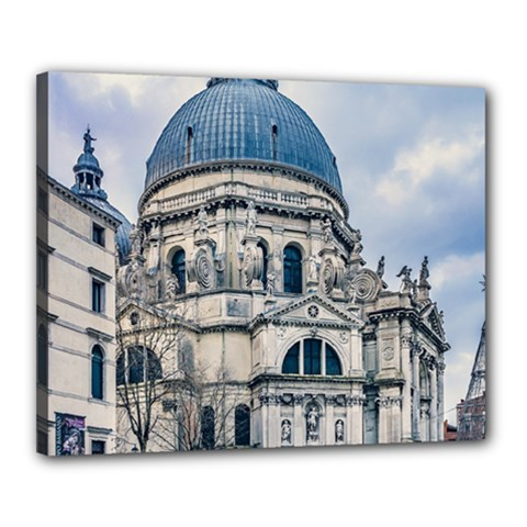Santa Maria Della Salute Church, Venice, Italy Canvas 20  X 16  (stretched) by dflcprintsclothing