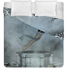 Wonderful  Fairy, Blue Colors Duvet Cover Double Side (king Size)