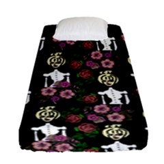 Victorian Girl Black Fitted Sheet (single Size)