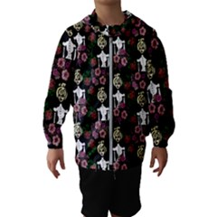 Victorian Girl Black Hooded Windbreaker (kids)