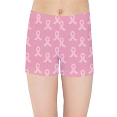 Pink Ribbon   Breast Cancer Awareness Month Kids Sports Shorts