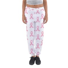 Pink Ribbon   Breast Cancer Awareness Month Women s Jogger Sweatpants by Valentinaart