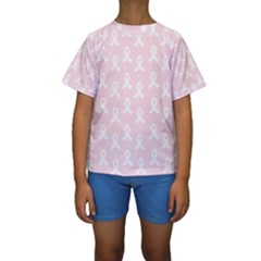 Pink Ribbon - Breast Cancer Awareness Month Kids  Short Sleeve Swimwear by Valentinaart