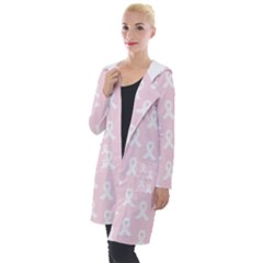 Pink Ribbon   Breast Cancer Awareness Month Hooded Pocket Cardigan
