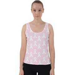 Pink Ribbon   Breast Cancer Awareness Month Velvet Tank Top by Valentinaart