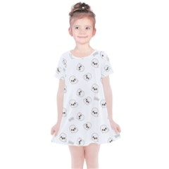 Cute Kawaii Ghost Pattern Kids  Simple Cotton Dress by Valentinaart