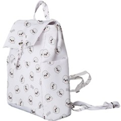 Cute Kawaii Ghost Pattern Buckle Everyday Backpack by Valentinaart