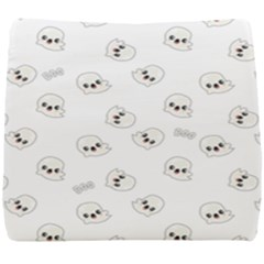 Cute Kawaii Ghost Pattern Seat Cushion by Valentinaart