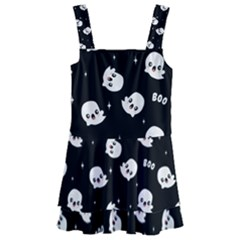 Cute Kawaii Ghost Pattern Kids  Layered Skirt Swimsuit by Valentinaart