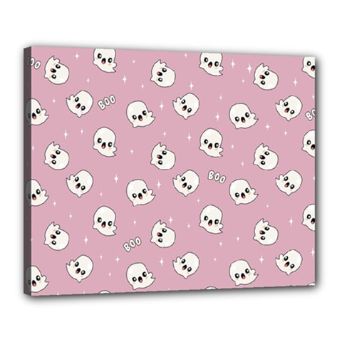 Cute Kawaii Ghost Pattern Canvas 20  X 16  (stretched) by Valentinaart
