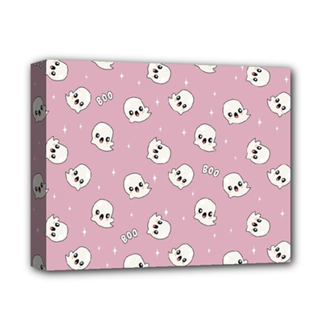 Cute Kawaii Ghost Pattern Deluxe Canvas 14  X 11  (stretched) by Valentinaart