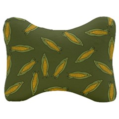 Corn Pattern Velour Seat Head Rest Cushion by Valentinaart